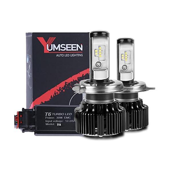 YUMSEEN LED Headlight Bulbs Conversion Kit 60w 6400Lm 6000K Cool White Philips Light Source 2 Yr Warranty