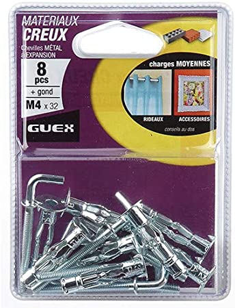 Guex Sachet 100 chevilles polyvalentes XENON D Guex 6 mm 108201000