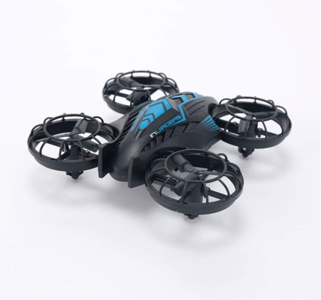 Mini Drahtlose Fernbedienung Drohne Geburtstagsgeschenk Für Kinder WiFi Echtzeit-Bildübertragung,Blau