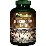 TNVitamins Pure Herbs Tri Mushroom Blend 60 Capsules With Maitake, Shitakii, and Reishi