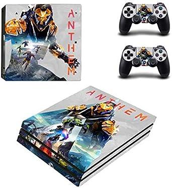 Pegatina de piel Anthem PS4 Pro para Sony PlayStation 4 Pro consola y joysticks Pro PS4 Pro stickers: Amazon.es: Videojuegos