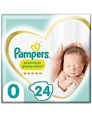 Pampers Maat 1 Luiers (2-5 kg), Premium Protection, 96 Stuks