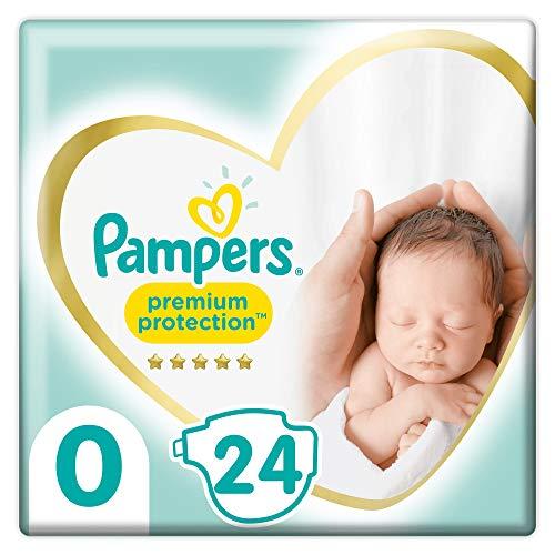 Pampers Maat 0 Premium Protection Luiers, 24 Stuks, onze Nummer 1 Luier voor Zachtheid en Bescherming van de Gevoelige…