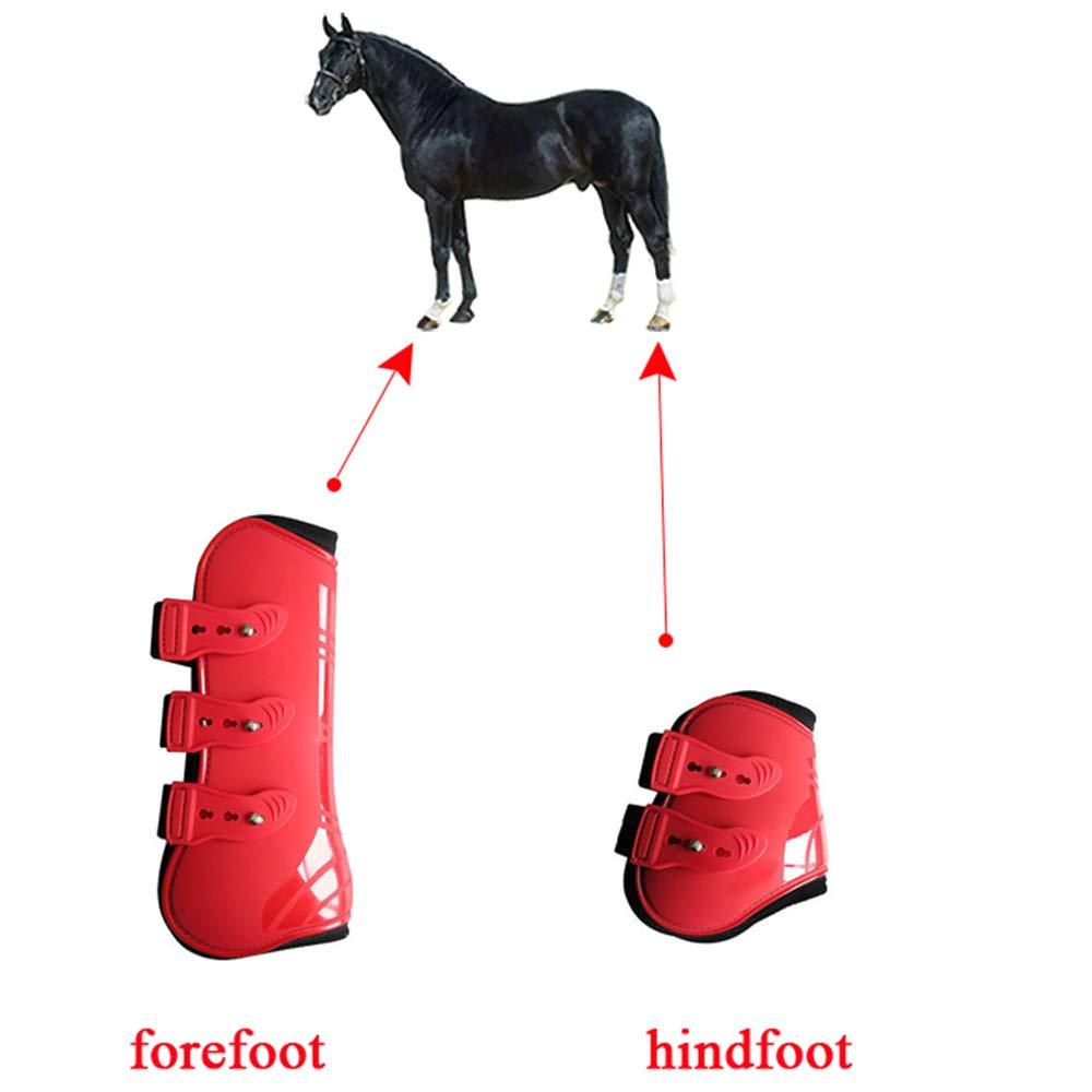 UTOPIAY Stivali da Cavallo Stivali Regolabili per Gambe di Cavallo paratendini e paranocche Protezione per Le Gambe sicura equipaggiamento equestre Leggero e Resistente,XL