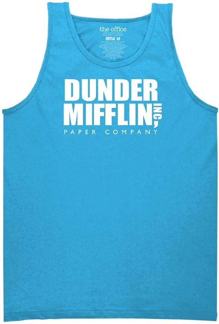 Ripple Junction The Office Adult Unisex Dunder Logo Fun Run Light Weight 100% Cotton Muscle Tank Top