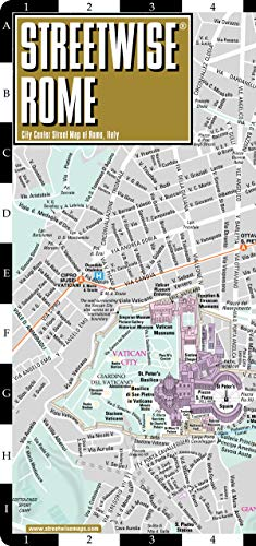 Streetwise Rome Map - Laminated City Center Street Map of Rome, Italy (Michelin Streetwise -