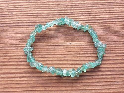 Apatite Natural - [A&S Crystals] APATITE Natural Stone Gemstone Stretchy Chip Bracelet