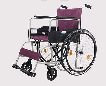 FLRGLY Silla de Ruedas Doblar la luz aleación de Aluminio de Viaje Inflable Anciano discapacitado portátil multifunción Carro (Color : #): Amazon.es: Hogar