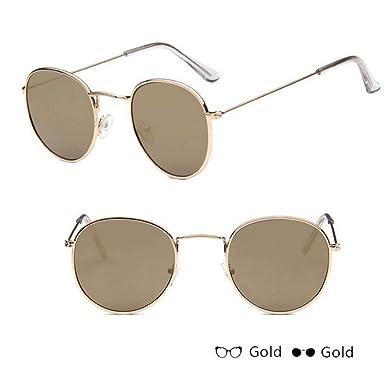 Mzdpp Espejo De Lujo Gafas De Sol Mujer/Hombre Gafas Dama ...