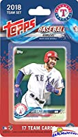 Texas Rangers 2018 Topps Baseball EXCLUSIVE Special Limited Edition 17 Card Complete Team Set with Joey Gallo, Adrian Beltre & Many More Stars & Rookies! Shipped in Bubble Mailer! WOWZZER!