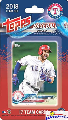 fan products of Texas Rangers 2018 Topps Baseball EXCLUSIVE Special Limited Edition 17 Card Complete Team Set with Joey Gallo, Adrian Beltre & Many More Stars & Rookies! Shipped in Bubble Mailer! WOWZZER!