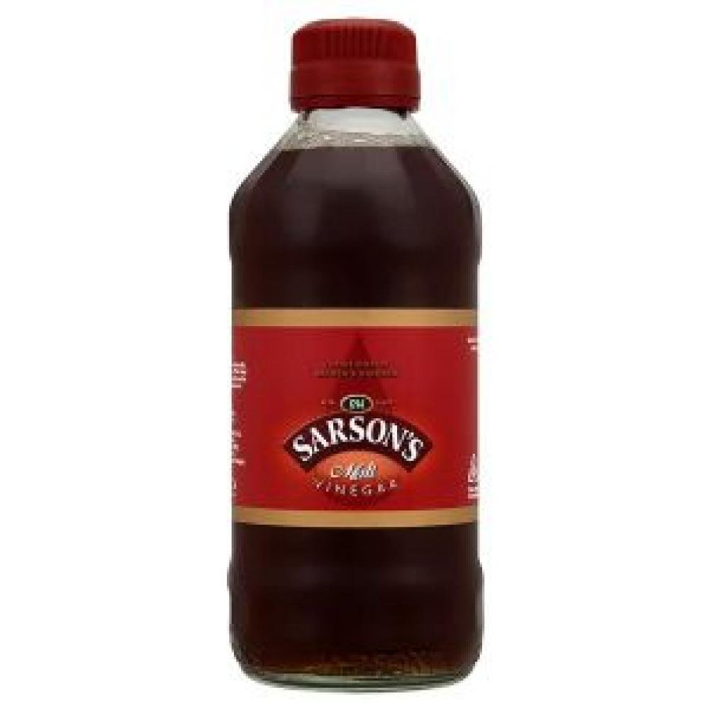 Sarsons Malt Vinegar 300ml (Pack of 4) by Sarsons