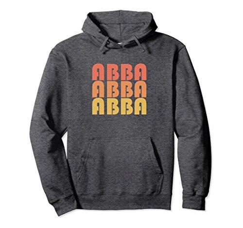 1970s Mens Sweater (Unisex Retro Abba Hoodie Vintage Typography 1970s Gift Shirt Large Dark Heather)