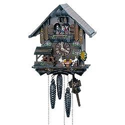 1-Day 10.6 in. Chalet Black Forest House Cuckoo Clock by Schneider Cuckoo Clocks
