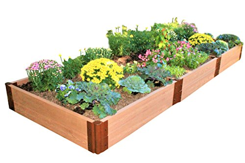 Frame It All RVG-REC16 Composite Wood Grain Timber Raised Garden, 4-Foot by 16-Foot by - Timber Raised Bed