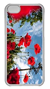 Customized iphone 5C PC Transparent Case - Vancouver Poppies Personalized Cover by Maris's Diary