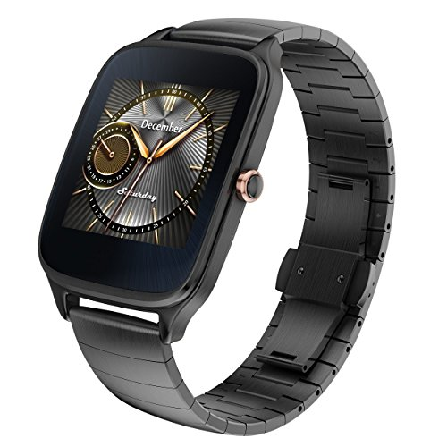 ASUS ZenWatch 2 Gunmetal Gray 41mm Smart Watch with HyperCharge Battery, 1.63-inch AMOLED Gorilla Glass 3 TouchScreen, 4GB Storage, IP67 Water Resistant (International Version) by Asus (Image #1)