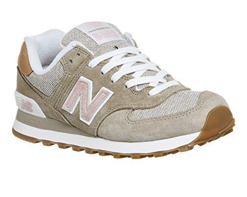 New Balance WL574V1 - Zapatillas de deporte Mujer Marron (Brown/Pink)