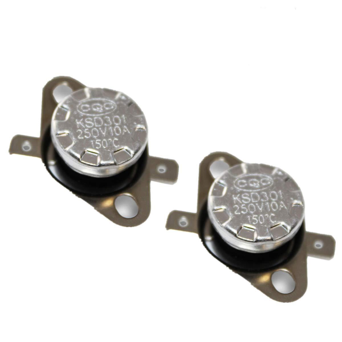 10 Pcs KSD301 250V 10A 115 Celsius Normal Close Temperature Controlled Switch