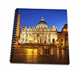 3dRose Twilight at St Peters Basilica, Vatican City, Rome, Italy Memory Book, 12 by 12''