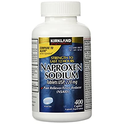 Naproxen Sodium by Kirkland Signature - 400 caplets 220 mg Non Prescription Strength - Compare to the active ingredient in Aleve
