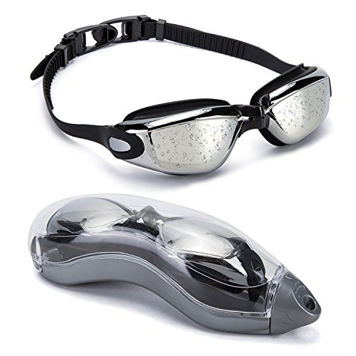 MIGAGA Swim Goggles - Unisex No Leaking Triathlon Swim Glasses For Adult Men Women Youth Kids Child with Free Protection Case,Swimming Goggles with 100% UV Protection,Anti Fog Technology Ultra Comfort