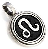 Bico Leo Zodiac Pendant (Z8 Black) - starsign - Colored Resin and Metal Tribal Street Jewelry