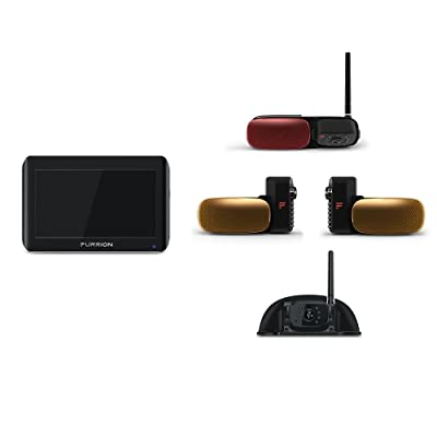 Furrion Vision S 7 Inch, 4 camera Wireless RV Backup System with Infrared Night Vision and Wide Viewing Angles: 1 Rear Camera, 2 Side Cameras, and 1 Door Way Security Sharkfin Camera - FOS07TAPT: Automotive