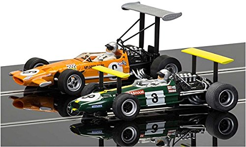 Scalextric C3589A McLaren M7C & Brabham BT26A Legends Limited Edition Twin Pack Slot Cars (1:32 Scale)