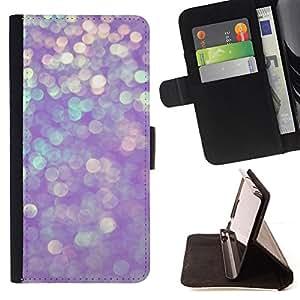 BullDog Case - FOR/Sony Xperia Z3 D6603 / - / glitter winter purple sparkling snow /- Monedero de cuero de la PU Llevar cubierta de la caja con el ID Credit Card Slots Flip funda de cuer