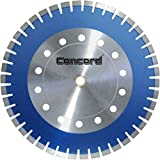 Concord Blades TCCB180C12SP 18 Inch Heavy Duty Laser-Welded Segmented Diamond Blade With Large Cross Drilled Holes