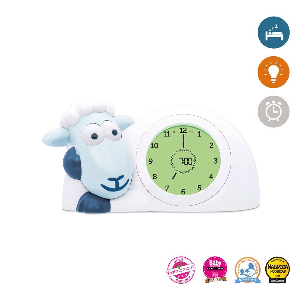 SAM Sleep Trainer Alarm Clock and Nightlight NEW FEATURES (Blue) Zazu Kids SAM-02