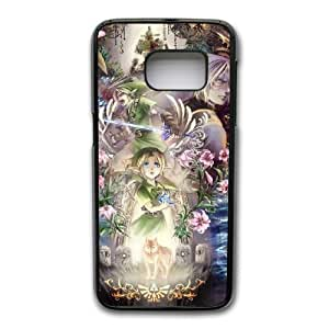 Wunatin Hard Case ,Samsung Galaxy S7 Cell Phone Case Black Zelda [with Free Tempered Glass Screen Protector]BA--93402