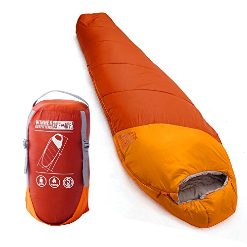 WINNER OUTFITTERS Mummy Sleeping Bag with Compression Sack, It's Portable and Lightweight for 3-4 Season Camping, Hiking, Traveling, Backpacking and Outdoor – DiZiSports Store