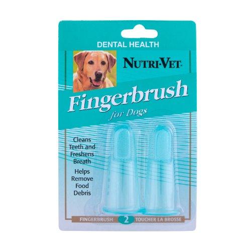 Nutri-Vet Fingerbrush Kit for Dogs, 2-Count
