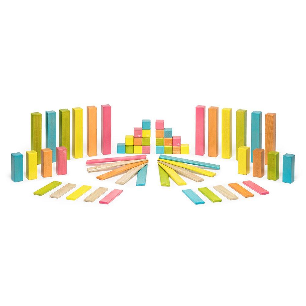 42 Piece Tegu Magnetic Wooden Block Expansion Pack Large Tints Tegu Toys XPL-TNT-710T