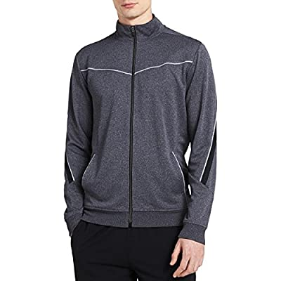 Calvin Klein Men's Long Sleeve Mock Neck Elite Track Jacket