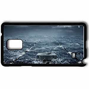 Personalized Samsung Note 4 Cell phone Case/Cover Skin Artistic Black