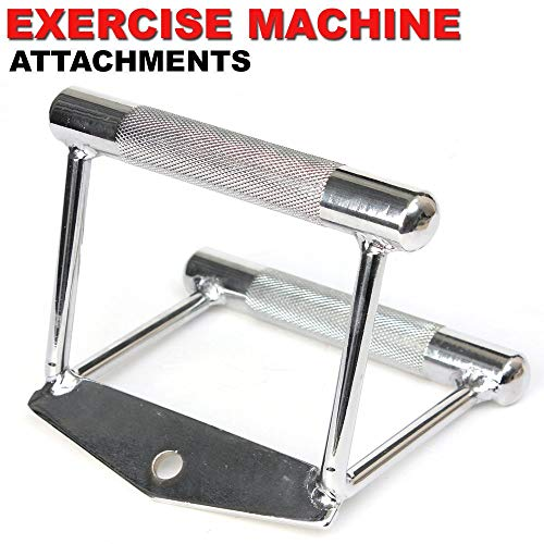 FITNESS MANIAC Home Gym Cable Attachment Handle Machine Exercise Chrome PressDown Strength Training Home Gym Attachments 30 inch Curl Bar Set (3 Pieces Set) by FITNESS MANIAC (Image #4)