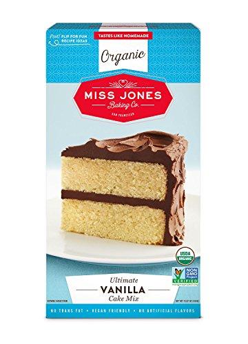 Miss Jones Baking Organic Cake Mix, Vanilla (Pack of 3) Vegan Vanilla Cake