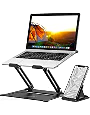 MOEVERT Laptop Standaard, Ergonomische Laptopstandaarden Verstelbare Laptop Stand Opvouwbare Draagbare Laptop Houder met Warmte-Vent voor MacBook Air Pro, Dell, HP, Lenovo en Alle 10-16 inch Laptop