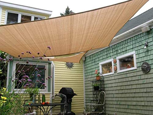 Shade Beyond Rectangle Sun Shade Sail for Patio Lawn Deck Garden Pergola 10 x13 , Sand