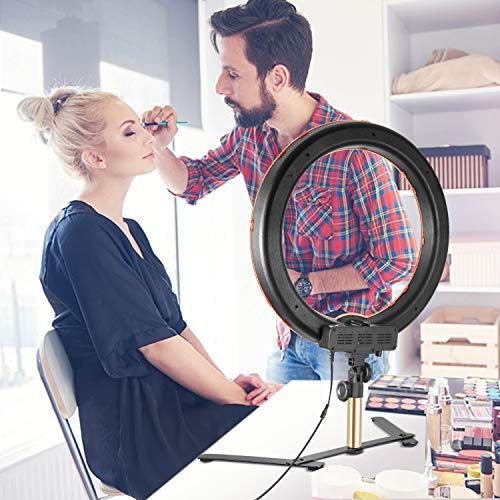 Neewer Desktop and Floor Ring Light Lighting Kit: 18 inches 55W 5500K Dimmable LED Ring Light with Floor Light Stand, Soft Tube, Tabletop Support Stand for Camera, Smartphone Video Make-up Shooting by Neewer (Image #5)