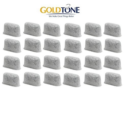 GoldTone Brand Activated Carbon Water Filters fits Cuisinart Coffee Makeers and Brewers. Replaces your Cuisinart Charcoal Water Filters and Cuisinart Water Filters [24 Pack]
