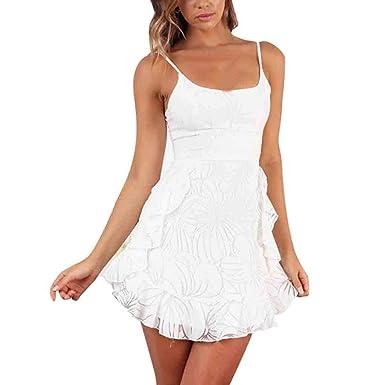 ZARLLE_Vestidos para mujer de Verano Moda Vestido Mujer Casual ...
