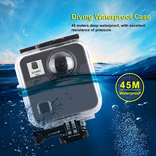Sodoop Waterproof Housing Case for DJI OSMO Action Camera, Underwater Diving 45M Photography Hard Diving Protective Housing Shell +Movable Socket and Screw for DJI OSMO Action 4K Camera