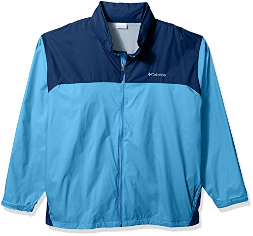 Columbia Men's Big and Tall Glennaker Lake Rain Jacket, Yacht, Carbon, 4XT 475 Coat