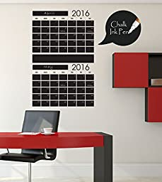 Two Monthly Chalkboard Calendar - Stacked Vertically