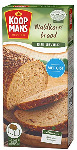 Koopmans Waldkorn broodmix (6x 450g multipack), mix geschikt voor 1 brood of 10 bolletjes (oven en broodbakmachine)