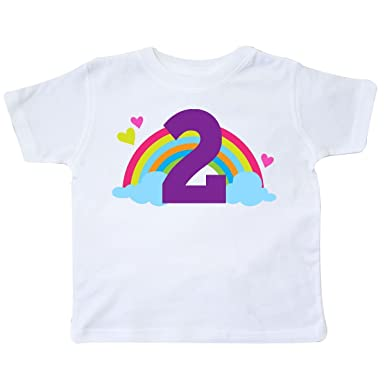 0ecb5df79 Amazon.com  inktastic - 2nd Birthday Rainbow Cute Girls Toddler T ...